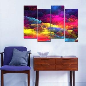 4-dielny obraz Evenning Sky, 20 x 50 cm