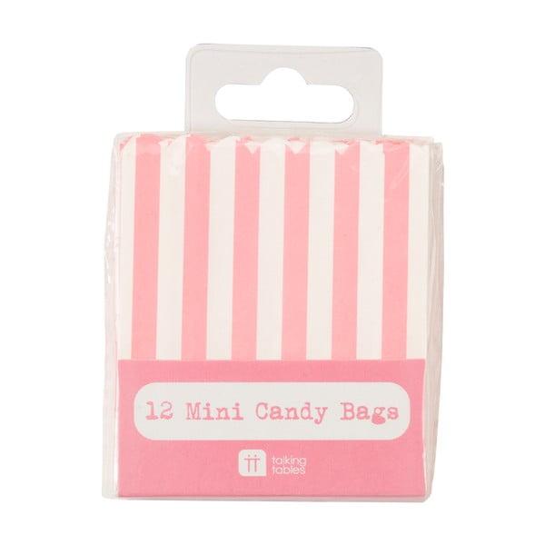 Sada 12 papierových sáčkov Mini Candy