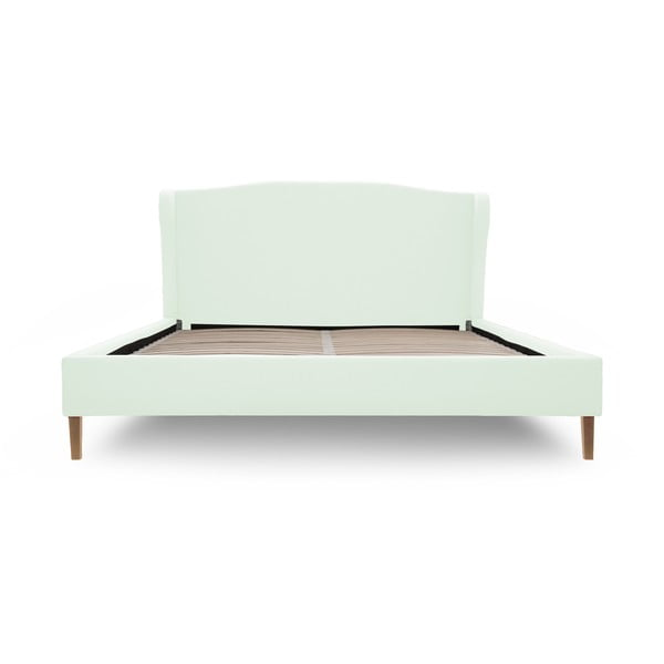 Pastelovozelená posteľ VIVONITA Windsor 140x200cm, prírodné nohy