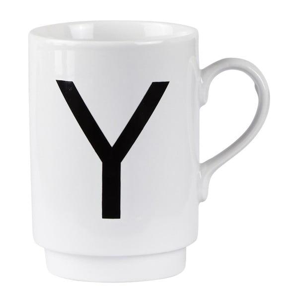 Porcelánový písmenkový hrnček Y