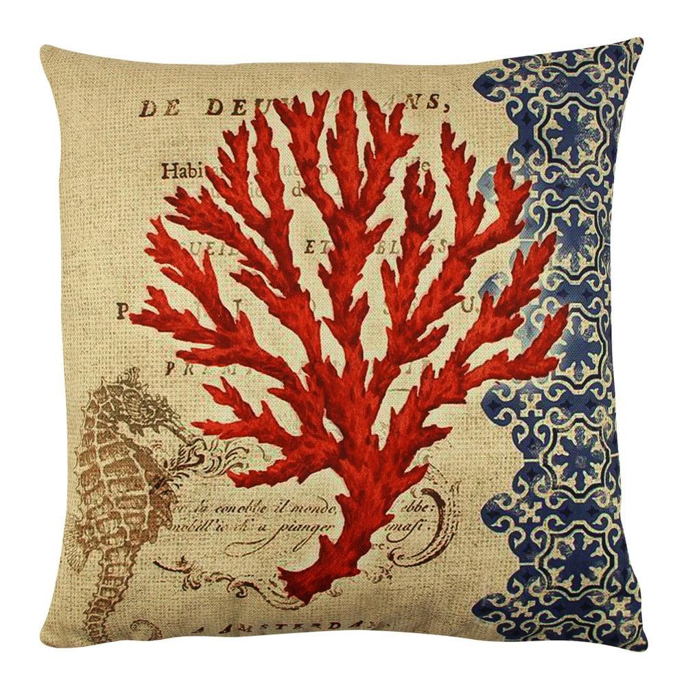 Vankúš s výplňou Gravel Red Tree II, 43 × 43 cm