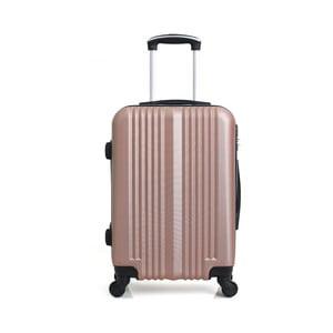 Cestovný kufor vo farbe ružového zlata na kolieskach Hero Lipari, 37l