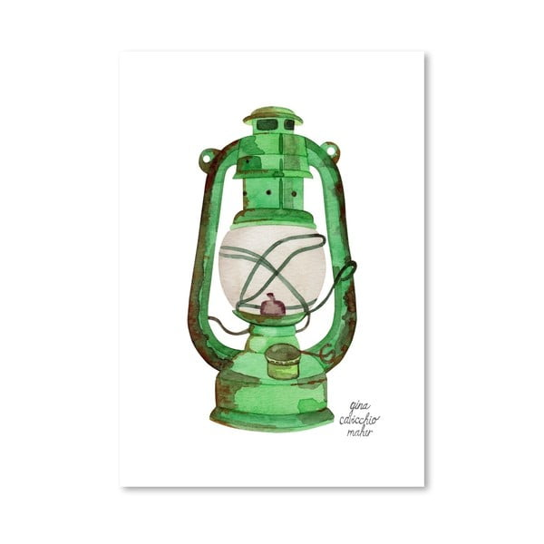 Autorský plagát Oil Lamp, 30x42 m