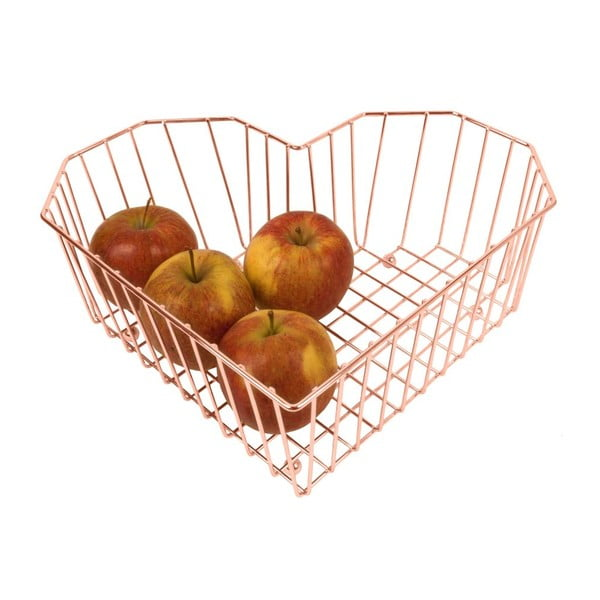 Medená misa na ovocie Present Time Heart Copper