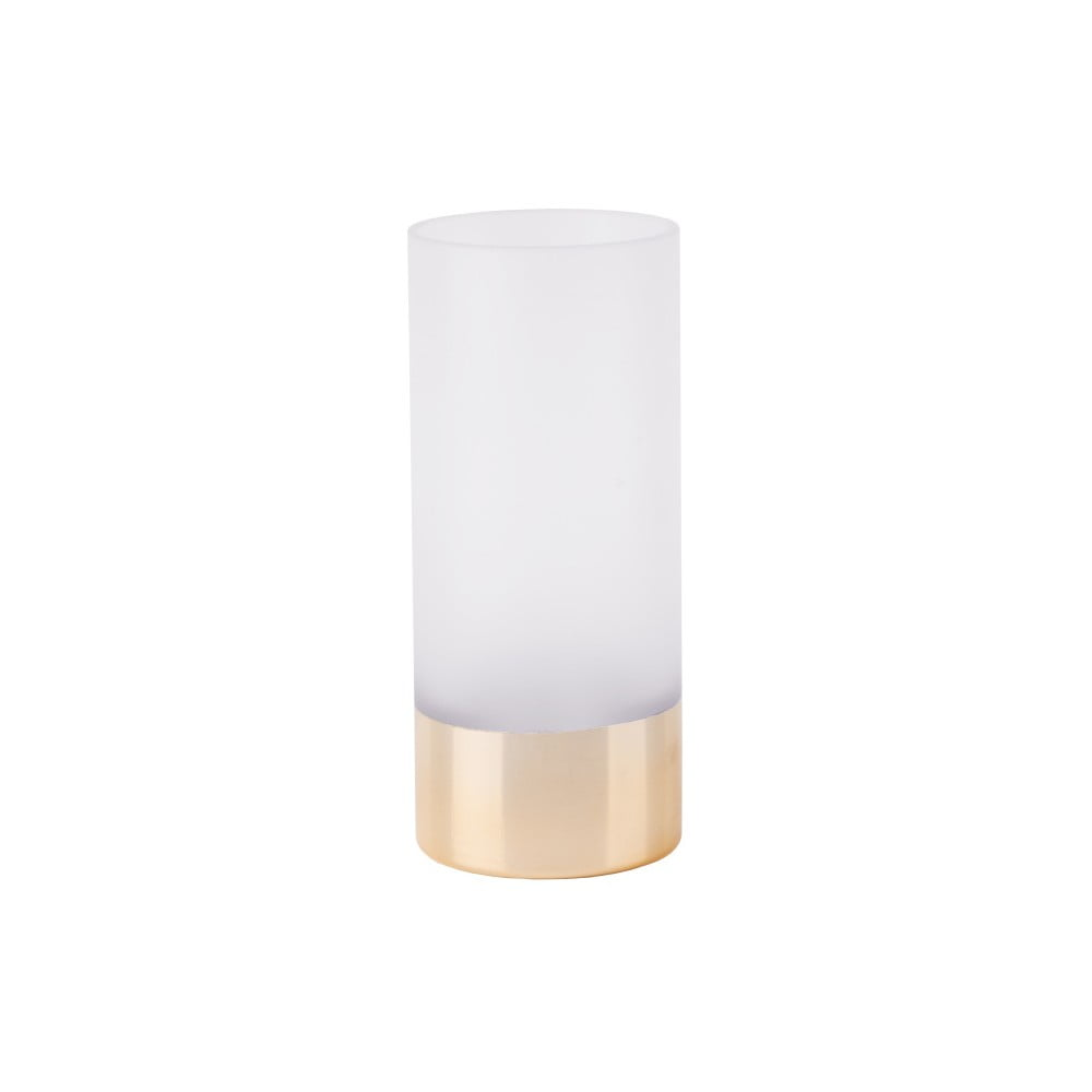Bielo-zlatá váza PT LIVING, výška 18,5 cm
