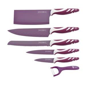 6-dielna sada nožov Chef Non-stick Color, fialová