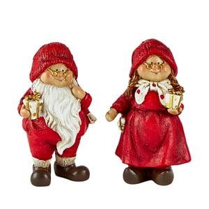 Sada 2 dekoratívnych vianočných figúrok KJCollection Pixie
