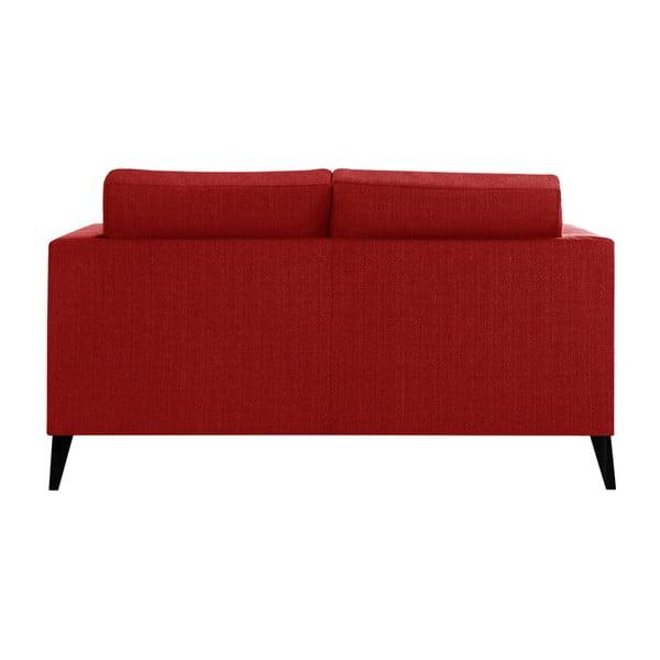 Červená dvojmiestna pohovka s detailmi v čiernej farbe Stella Cadente Maison Atalaia Red