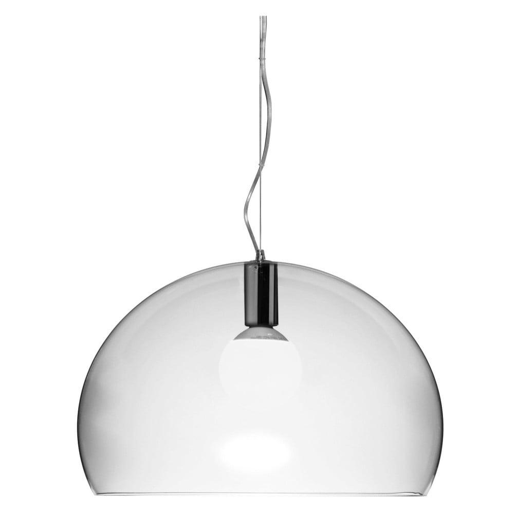 Transparentné stropné svietidlo Kartell Fly, ⌀ 52 cm