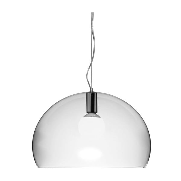 Transparentné stropné svietidlo Kartell Fly, ⌀52cm