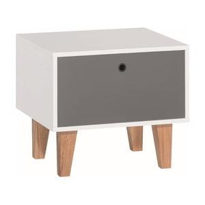 Sivo-biely nočný stolík Vox Concept