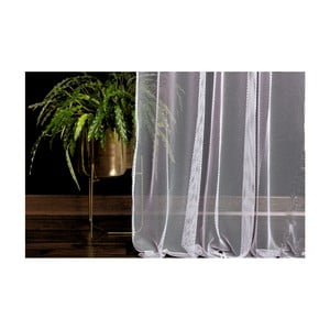 Biely záves DecoKing Elie, 140 × 250 cm