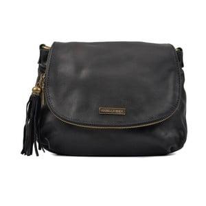 Čierna kožená kabelka Isabella Rhea Margona