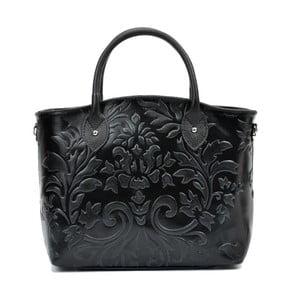 Čierna kožená kabelka Renata Corsi Mismana Terra