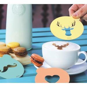 Dekoratívne vzorníky na kávu DOIY Hip Coffee