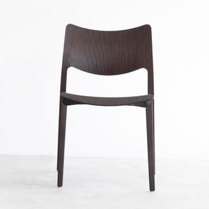 Stolička z čierno moreného jaseňového dreva Stua Laclasica