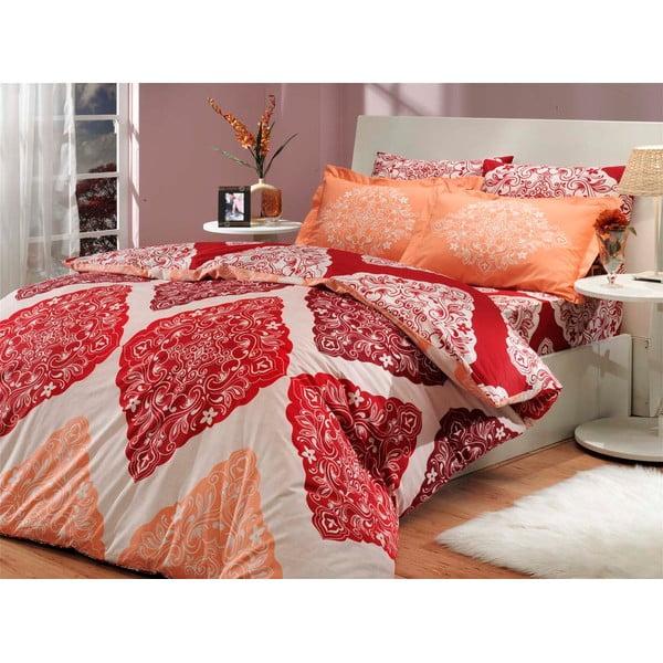 Obliečky s plachtou Amanda Red, 200x220 cm