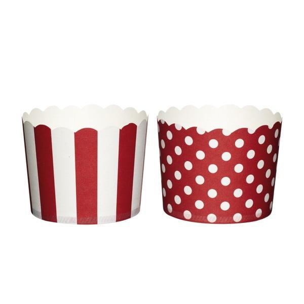 Sada 20 papierových košíčkov na muffiny Kitchen Craft Red Sweetly Does It