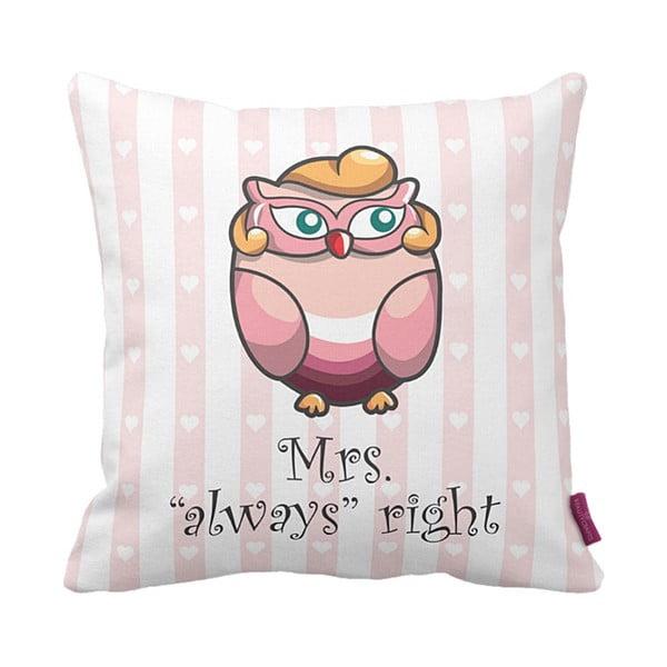 Vankúš Mrs Owl, 43x43 cm