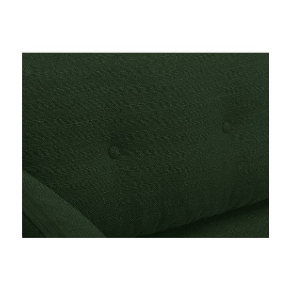 Zelená trojmiestna pohovka Mazzini Sofas Elena, s leňoškou na pravom rohu