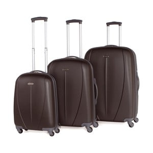 Set 3 cestovných kufrov Tempo Antracita
