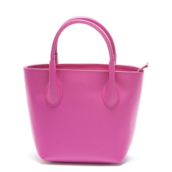 Ružová kožená kabelka Mangotti Axillaris
