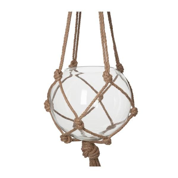 Závesná sklenená váza Diamant
