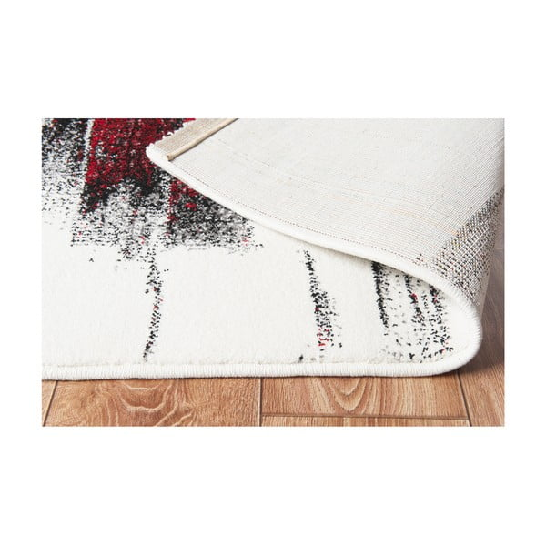 Koberec Farbles Black/Red, 200x290 cm