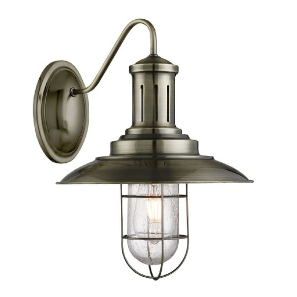 Nástenné svetlo Caged Antique Brass