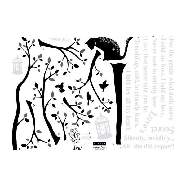 Samolepka Fanastick Tree And Cats