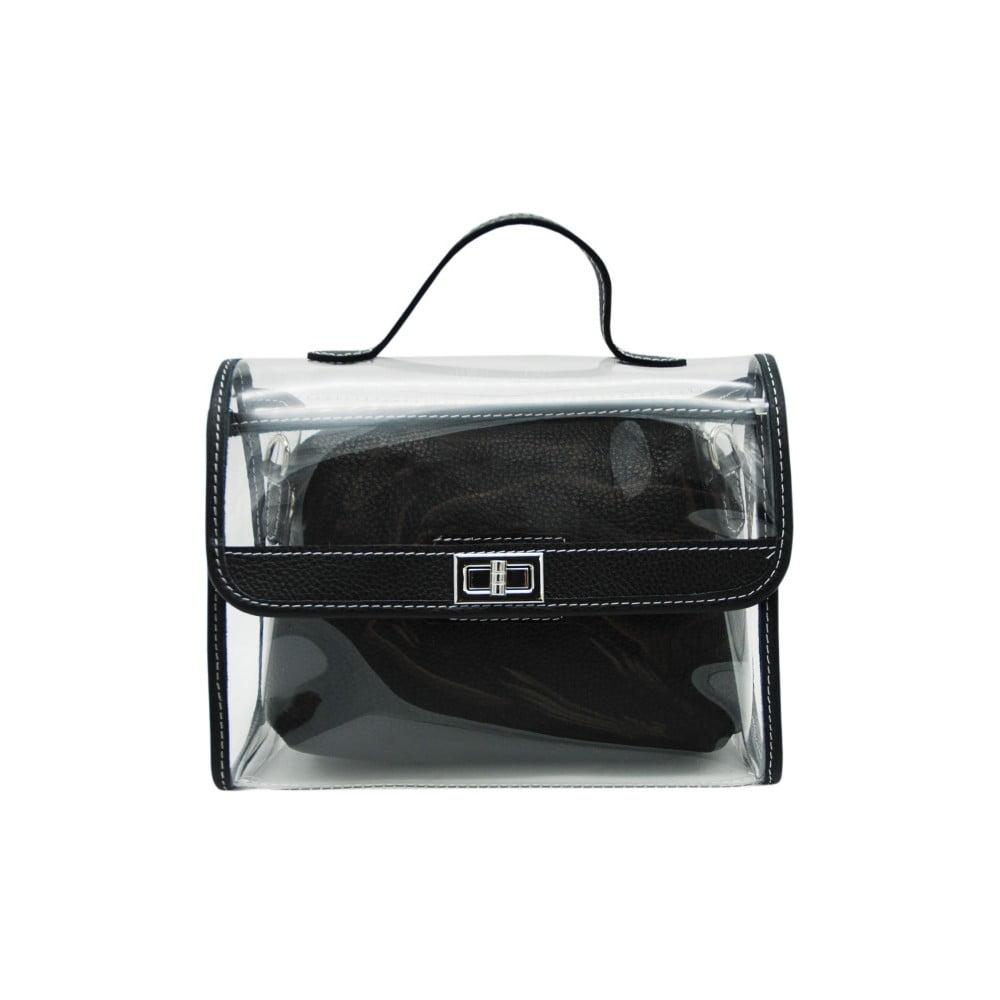 Čierna kabelka z pravej kože Andrea Cardone Transpa Mini 5140fd77336