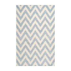 Vlnený koberec Stella Light Blue, 121x182 cm