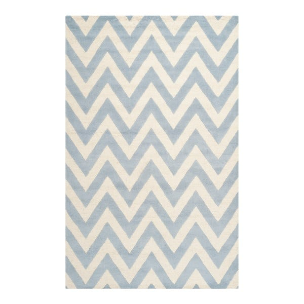 Vlnený koberec Stella Light Blue, 152x243 cm
