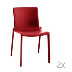 Sada 2 červených záhradných stoličiek Resol Kat