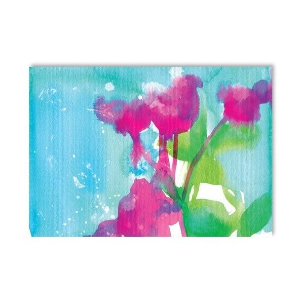 Plagát Pink Flowers, 30x42 cm