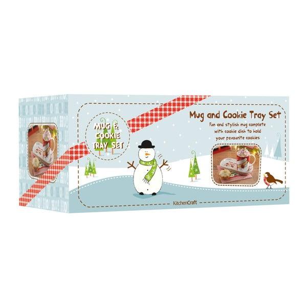 Set hrnčeka a tácky Merry Little Christmas