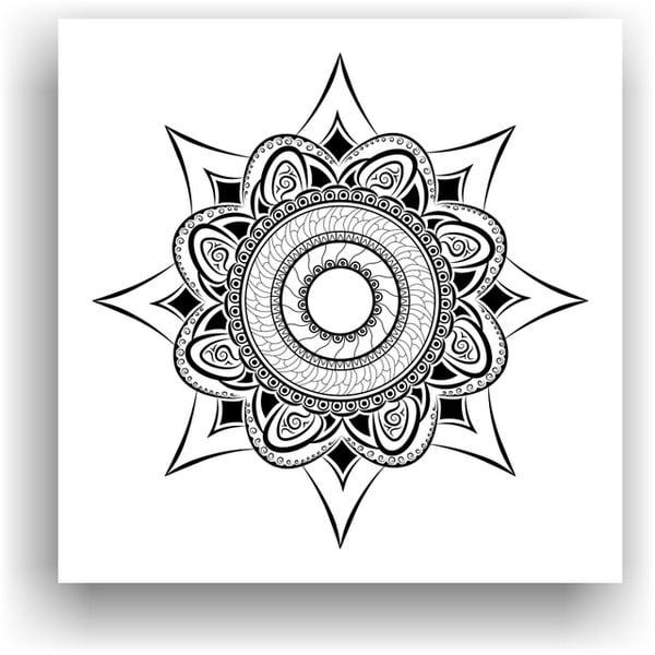 Obraz na vymaľovanie Color It no. 81, 50x50 cm