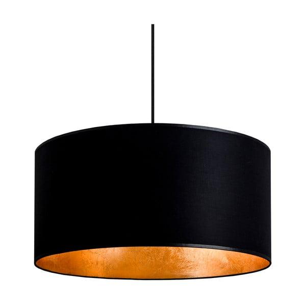 Čierno-zlaté závesné svietidlo Bulb Attack Tres, ⌀50cm