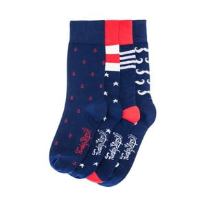Sada 4 párov unisex ponožiek Funky Steps Dammia, veľkosť 39/45