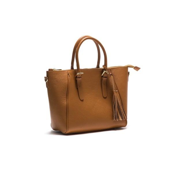 Kožená kabelka Anna Luchini 1169 Cognac
