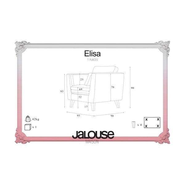 Sivé kreslo Jalouse Maison Elisa