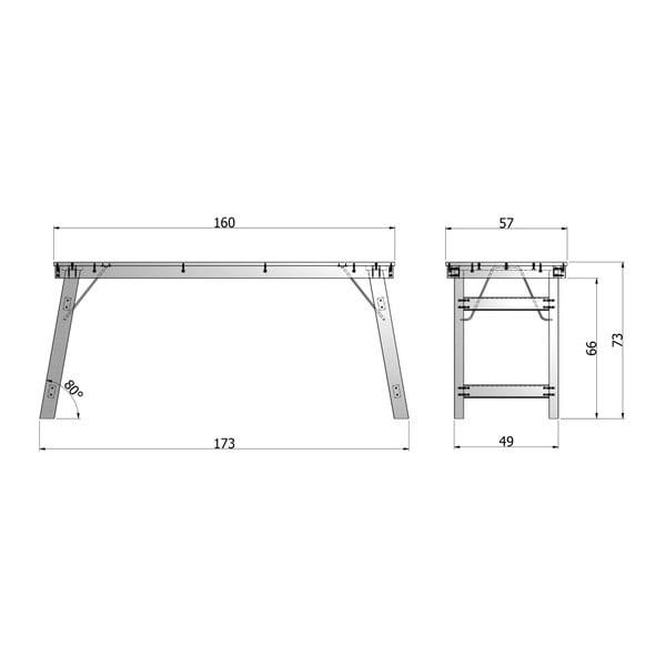 Biely písací stôl DeEekhoorn Klap