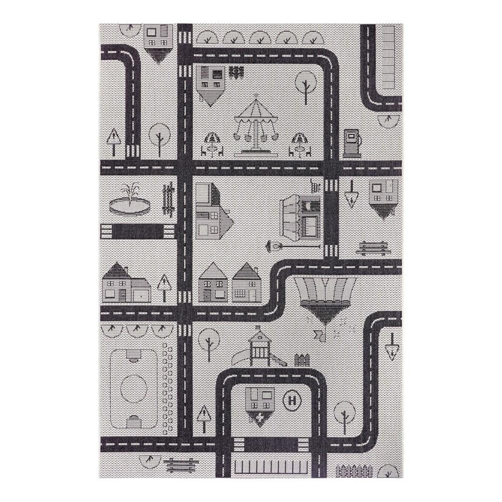 Sivý detský koberec Ragami City, 120 x 170 cm