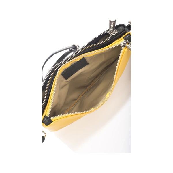 Kožená kabelka Krole Kody s dvoma vreckami, žltá