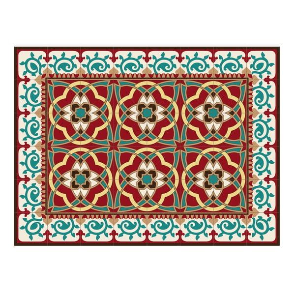 Koberec z PVC Red Arabesque, 100x60 cm