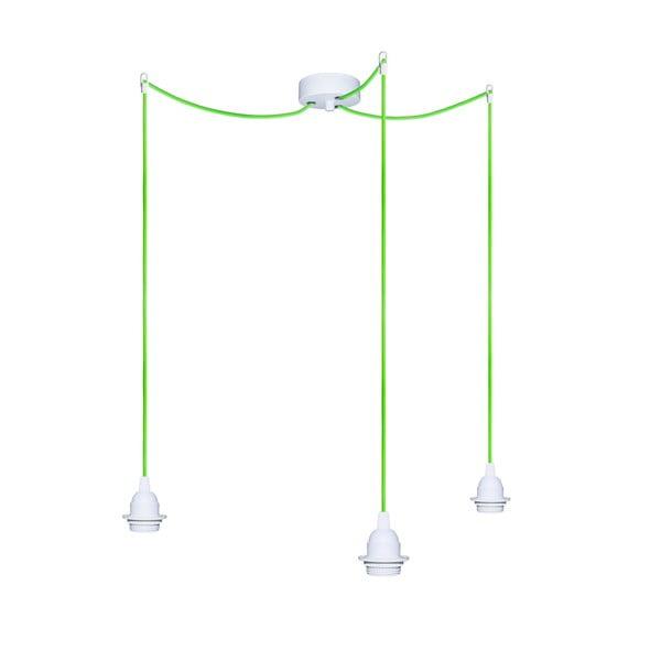 Tri závesné káble Uno+, zelená/biela