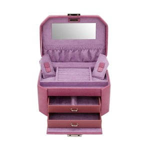 Šperkovnica Candy Light Purple, 20,5x15x11,5 cm