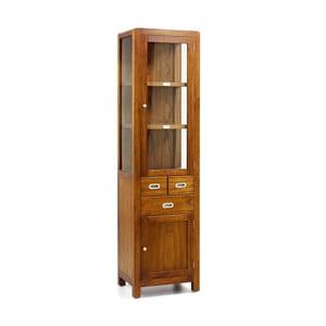 Kabinet s vitrínou z dreva bieleho cédra Moycor Flash
