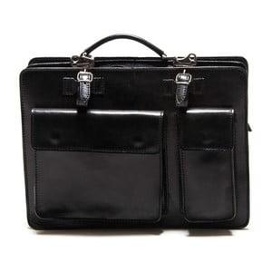 Čierna kožená taška Renata Corsi Linto