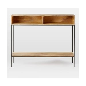 Konzolový stolík z masívneho mangového dreva Massive Home Jenny, 100 x 76 cm